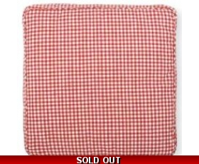 Greengate Seat Pad Red Gingham Chair Box Cushion Ida