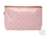 Greengate Cosmetic Make Up Bag Dot Pale Pink wit..