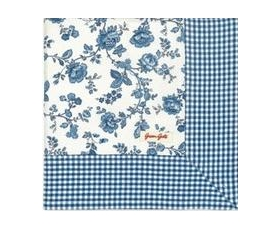 Greengate Tablecloth Frida Indigo Blue Vintage Floral Square