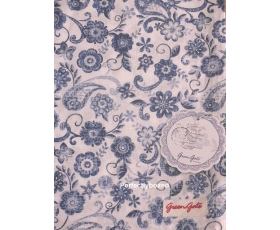 Greengate Tea Towel Ginger Blue Floral Paisley Toile Vintage