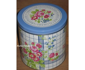 Greengate Set 3 Tins Garden Check Vintage Floral Storage