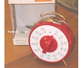 Retro Kitchen Timer 60 Minutes Red