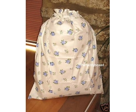 Laundry Bag Floral Roses Blue Bedroom Bathroom Linen Storage