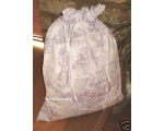 Toile de Jouy Lilac Laundry Bag Purple Linen Sto..