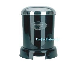 Kitchen Pedal Bin 9L Black dustbin Retro
