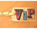 Luggage Tag VIP Gold Bl..