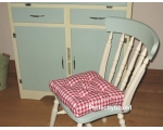 Seat Pad Red Gingham Check Retro Kitchen Garden ..