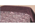 Quilt Throw Topper Marisse Rich Purple Velvet Pa..
