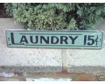 Metal Sign Laundry Kitc..