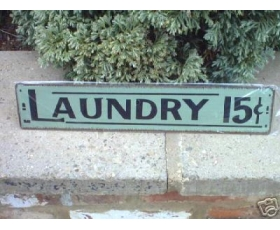 Metal Sign Laundry Kitchen Utility