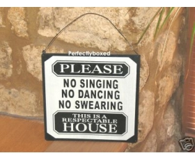 Metal Sign No Swearing Kitchen