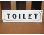 Metal Sign Toilet Plaqu..