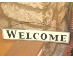 Metal Sign Welcome Kitc..