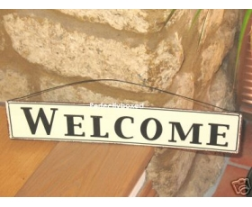 Metal Sign Welcome Kitchen Home
