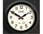 Newgate Small Electric Wall Clock Black Retro