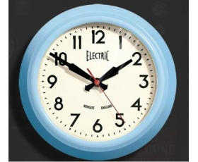 Newgate Small 'Electric' Wall Clock Blue Limited Edition