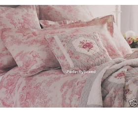 Red Toile de Jouy Double Duvet Sashi Nice Percale