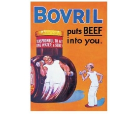 Robert Opie Bovril Puts Beef into You A5 Metal Sign Retro