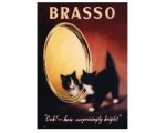 Robert Opie Brasso Ooh  A5 Metal Sign Retro