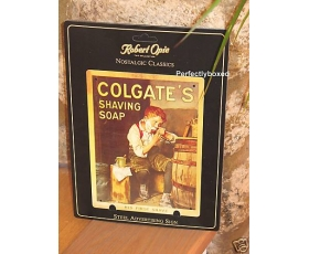 Robert Opie Metal A5 Sign Colgates Shaving Soap Retro