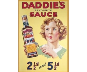 Robert Opie Heinz Daddies Sauce A5 Metal Sign Retro