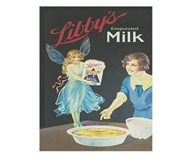 Robert Opie Libbys Milk  A5 Metal Sign Retro