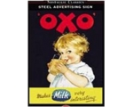 Robert Opie Oxo A5 Metal Sign Retro
