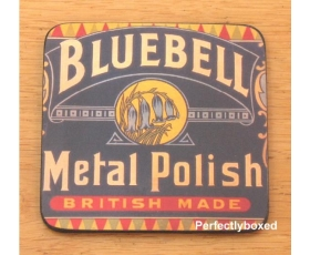 Robert Opie Coasters Bluebell Metal Polish Drinks Mat