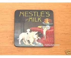 Robert Opie Coasters Nestles Milk Drinks mat