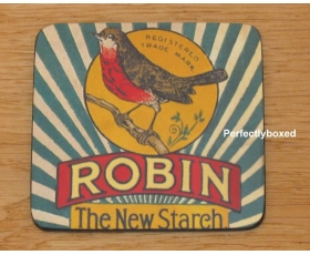 Robert Opie Coasters Robin New Starch Drinks Mat