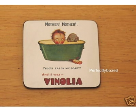 Robert Opie Coasters Vinolia Soap Baby Drinks Mat