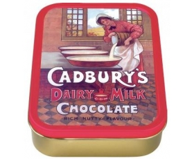 Robert Opie Cadburys Girl Pouring Milk Collector Keepsake Tin Retro