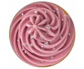 Cupcake Button Mirror Pink Sparkle Retro Handbag Travel