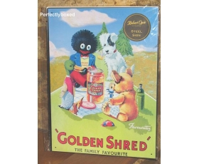 Robert Opie Large Metal Sign Golden Shred Golly Retro