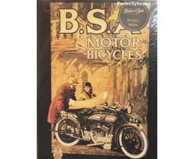 Robert Opie Large Metal Sign BSA Motor Bicycles Retro