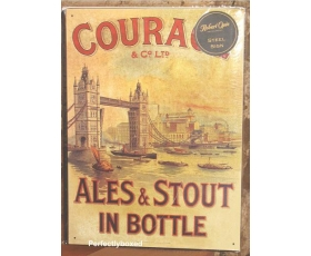Robert Opie Large Metal Sign Courage Ales Stout Retro Pub Brewery