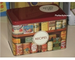 Robert Opie Recipe Card Tin Larder Pantry Retro