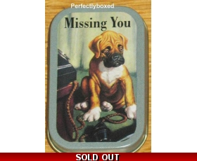 Robert Opie Tin John Bull Missing You Dog Advert