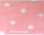 Pink Polka Dot Fleece B..