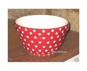 Retro Red Polka Dot Pudding Bowl Spot Mixing Ceramic Pantry