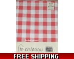 Red Gingham Check Tablecloth 140cm square Oilcloth