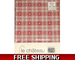 Red Hearts Tablecloth 140cm Square Oilcloth Shak..