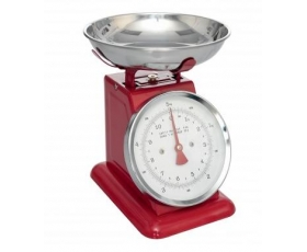 Retro Kitchen Scales 5kg Red Enamel Weighing