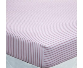 Catherine Lansfield Fitted Sheets Red Stripe Double Brushed Cotton