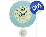 Spot Dog Blue Polka Dot Wall Clock Nursery Pendu..