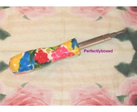 Floral Screwdriver Pink Red Blue Tool