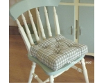 Seat Pad Green Gingham Check Retro Kitchen Garde..