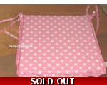Seat Chair Pad Cushion Pink Polka Dot Spot Retro..