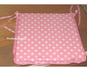 Seat Chair Pad Cushion Pink Polka Dot Spot Retro Kitchen Garden