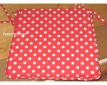 Seat Chair Pad Cushion Red Polka Dot Spot Retro ..